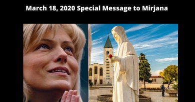 "Extraordinary Special Message: March 18, 2020 from Our Lady to Mirjana ""I see beautiful things and bad things."""
