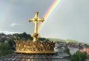 Beautiful Morning Rainbow  in Lourdes caught on Video.. Miracle and Sign from God?- Video going viral