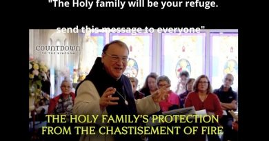 "Fr. Michel Rodrigue Prophecy: ""The arm of my justice will come now…They do not hear my divine mercy. I must now let many plagues to happen on earth now in order to save as many people as I can from the slavery of Satan …The Holy family will be your refuge. Send this message to everyone"""
