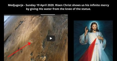 """Blood and Water which flowed from the heart of Jesus as a Fountain of Mercy for us, I trust in You!""  Water flowing from Risen Christ Statue on Divine Mercy Sunday"
