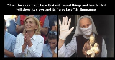"Sr Emmanuel – In the Time of the Medjugorje Secrets:  ""It will be a dramatic time that will reveal things and hearts. Evil will show its claws and its fierce face. The Good will demand the test of faith."""