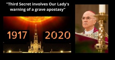 "Shock: Prominent Vatican Whistleblower, Abp. Carlo Maria Viganò,  says Vatican is hiding the full contents of the ""Third Secret of Fatima""..""Third Secret involved Our Lady's warning of a grave apostasy"""