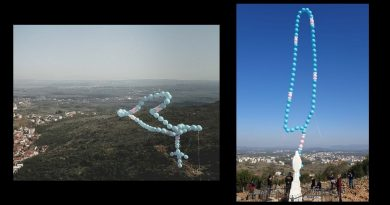 """Wow! Easter Sunday: Large rosary balloon released with a prayer above Medjugorje to end the Pandemic –  """"This is all for Our Lady and Our Lady's intentions and for the glory of Our Lady and the Lord."""""""