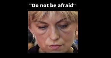 "Mirjana, after hearing that her monthly apparitions with the Blessed Mother had ended, she left the room in tears  – Read last prophectic message to Mirjana…""Bring the light of my Son and keep breaking the darkness which all the more wants to seize you. Do not be afraid."""