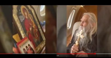 "Russian Mystic close to Putin flies Icon of the Virgin Mary over Russia to ""Protect Russia from the Coronavirus pandemic.""  Monk is seen as ""Healer"""