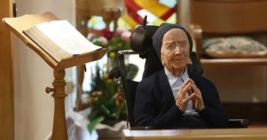 Oldest person in Europe is Nun in France.  Coronavirus has missed her,  thank God – Pray for Sister Andre – Celebrated 116 year birthday just days before Lent started.