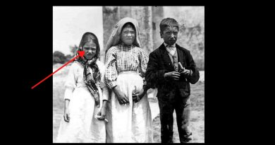 Photo taken at the moment the three Fatima children are shown terrifying vision of Hell. – The story behind the picture.