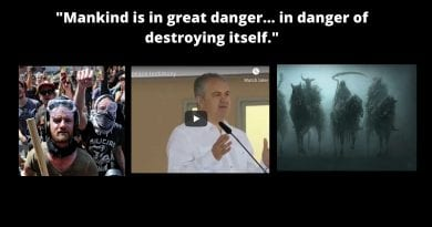 """""""A world on fire""""  Ivan's Urgent Call for Peace! – """"Mankind is in great danger…and it is in danger of destroying itself."""""""