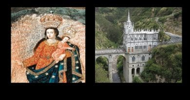 """Painted by angels from Heaven"" …The Great Rock Miracle of Our Lady of Las Lajas. Truly a Wonder of the World –  'Who can deny that God made this!"""