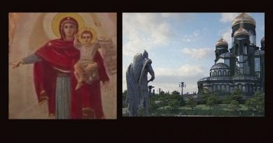 """Fatima 2.0 The new mind-blowing Russian Orthodox Cathedral is dedicated to """"Warrior Saints"""" and the Military. Christianity is rising in Russia as statues of Saints and historical figures are destroyed and tossed into rivers in USA…Is it a coincidence or a prophetic sign of a coming conflict."""