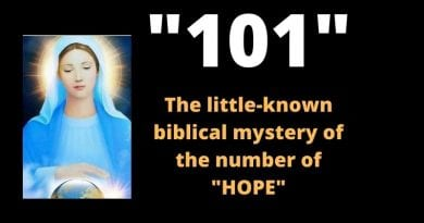 "Our Lady's mysterious number of HOPE  ""101"" –  The little known biblical number of the victory of good over evil."