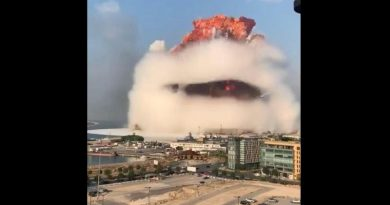 MASSIVE EXPLOSIONS ROCK BEIRUT WIDESPREAD DESTRUCTION HUNDREDS OF CASUALTIES VIDEO