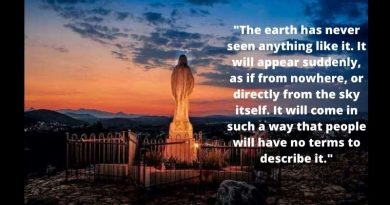 "The only secret known.. ""There will be a great sign ..The earth has never seen anything like it…that will convert many."" Today we talk about the 3rd secret of Medjugorje."""