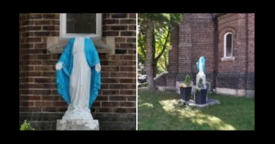 BREAKING: Statue of Virgin Mary decapitated by vandals on Sunday Morning in Toronto