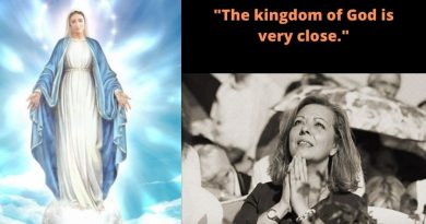 "Special Message From Gisella Cardia's Apparition September 1, 2020: ""God is shaking the world, the kingdom of God is very close…you are at the beginning of the Apocalypse!"""
