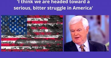 Newt Gingrich: 'Alternative worlds' of left and right bode ill for future ..'I think we are headed toward a serious, bitter struggle in America""