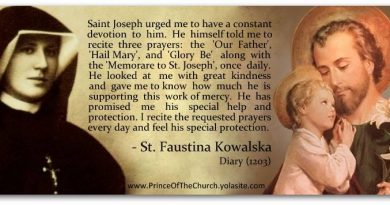 St Joseph in the Diary of St Faustina