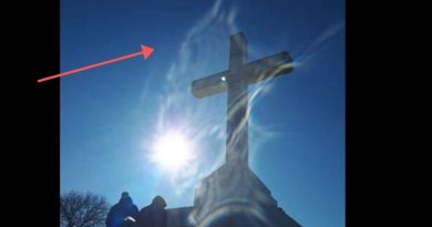 A Sign for Our Times: Miracle Photo of Virgin Mary taken by Franciscan friar Marinko Strbac on Cross Mountain. The Friar is resident of Medjugorje