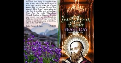 "Mystery: Clairvoyant Receives New Message From Saint Francis de Sales on feast day: ""The end times are at your door…But do not despair…The entire Triumphant Church dwelling in Heaven will guide and protect you."""