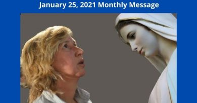 "Official Medjugorje Monthly Message January 25, 2021 ""Be joyful bearers of peace and love to be well on earth…Long for Heaven because there is neither sadness nor hatred in Heaven."""