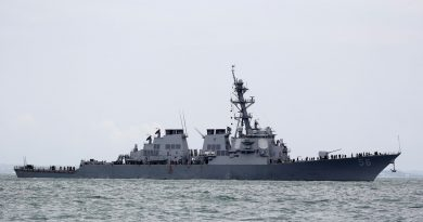US sends warship past Chinese-controlled South China Sea islands … China ready to 'respond to all threats and provocations.