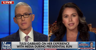 Tulsi Gabbard accuses media of 'fueling' conflicts to drive up ratings (Religious freedoms at risk)