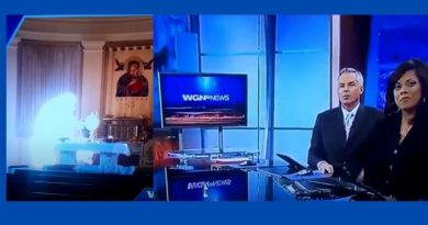 """So what do they see?"" WGN Reports ""Human figure appearing to hover next to the host on the alter."" Is it the Virgin Mary?"