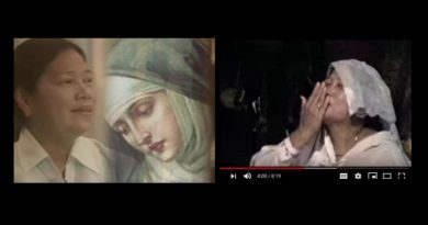 "The Apparitions of Emma Guzman –  Face sparkles with ""Gold Dust"" when the Virgin Mary arrives…Then the ""mountainside is filled with angels!"" – Powerful video"