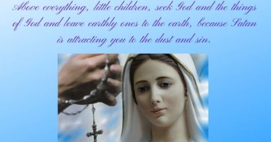 "Mary's Medjugorje Pearl March 4, 2021…""Seek God and leave earthly ones to the earth, because Satan is attracting you to the dust."""