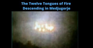 "Medjugorje Today April 9, 2021: Miracle Photo –  The little-known event when ""12 tongues of Fire"" descended on the Day of the Pentecost in Medjugorje"